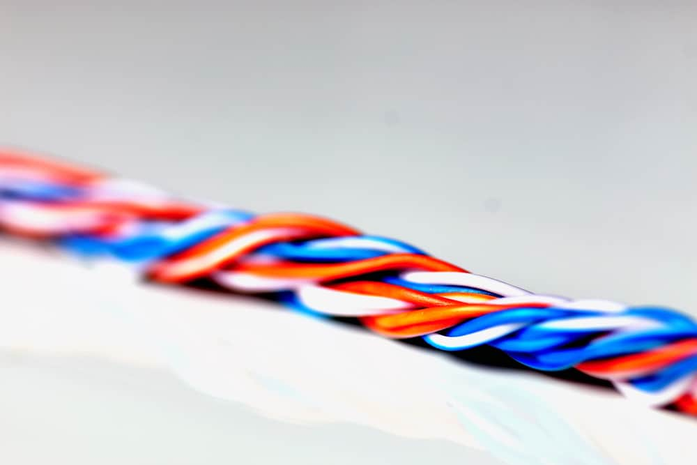 macro color braided wire