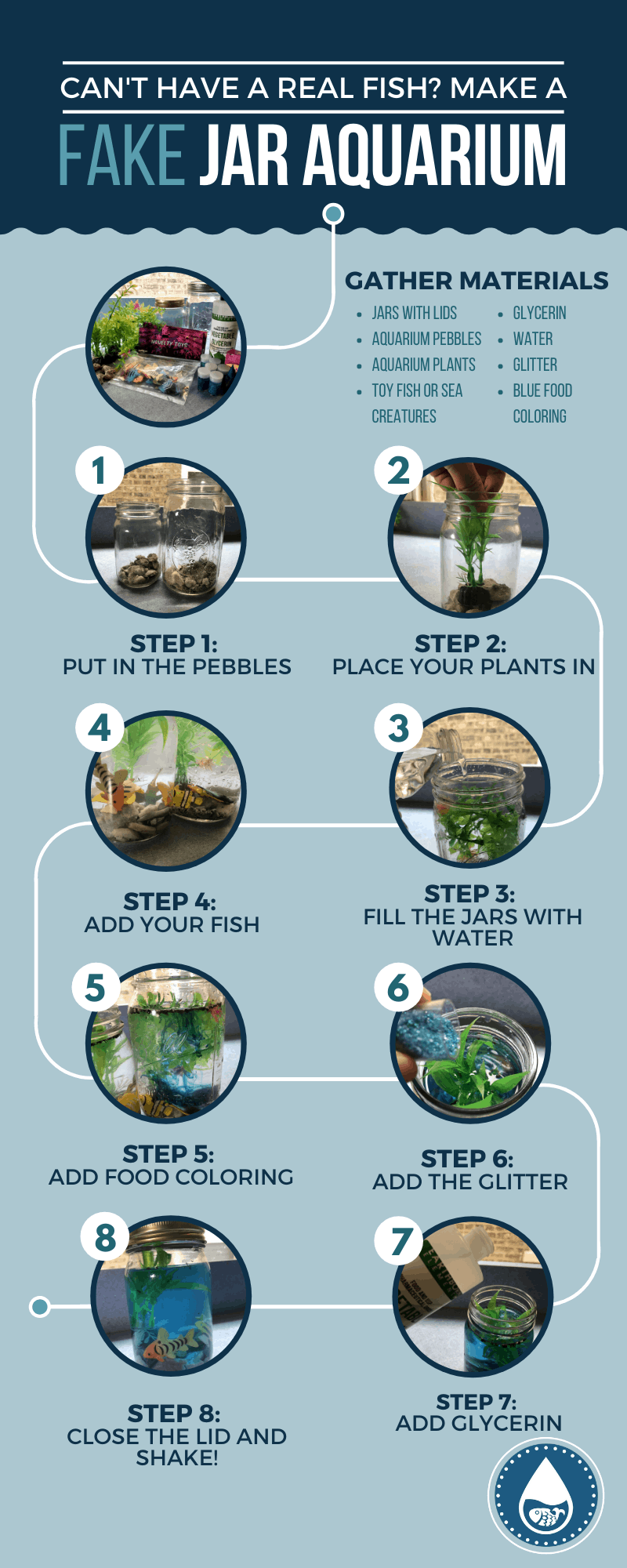 Can't Have Real Fish_ Make a Fake Jar Aquarium - Infographic