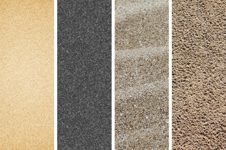Types of sand