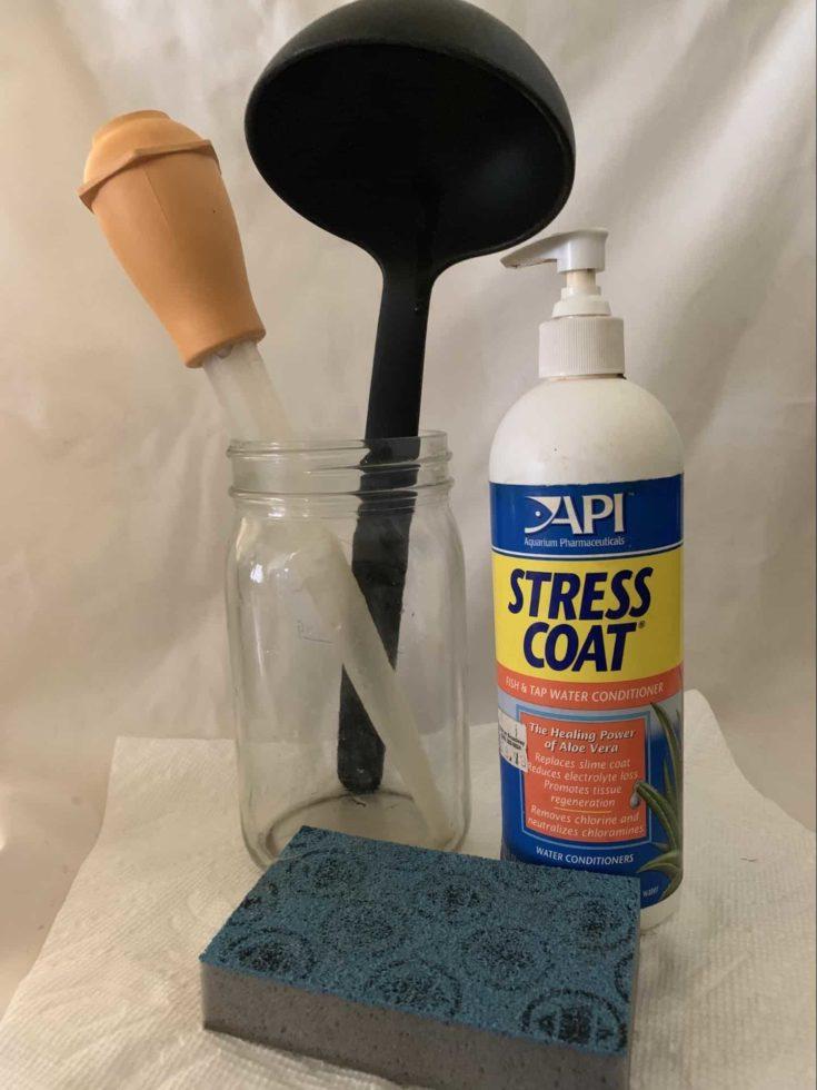 Scrub Pad + Glass Jar + Water Conditioner + Small Ladle + Turkey Baster