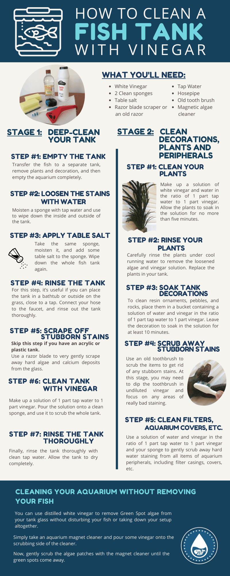 How To Clean a Fish Tank With Vinegar - Infographic
