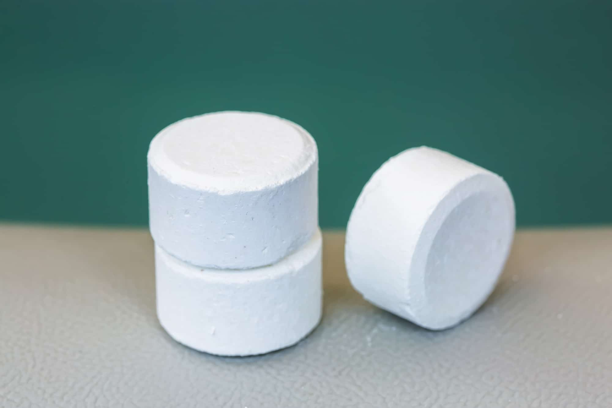 tablet of chlorine or bromide for mainteance of water quality of jacuzzi or spa
