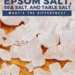 Aquarium Salt, Epsom Salt, Sea Salt, and Table Salt - What's The Difference? - pin