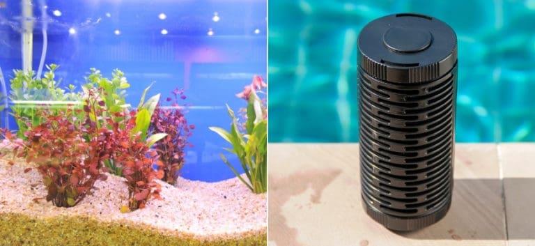 Aquarium with Undergravel Filters and Power Filter