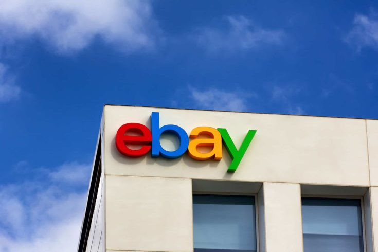 SAN JOSE, CA/USA - MARCH 1, 2014: Ebay Corporate Headquarters Sign. eBay Inc. is an American multinational internet consumer-to-consumer corporation, headquartered in San Jose, California.