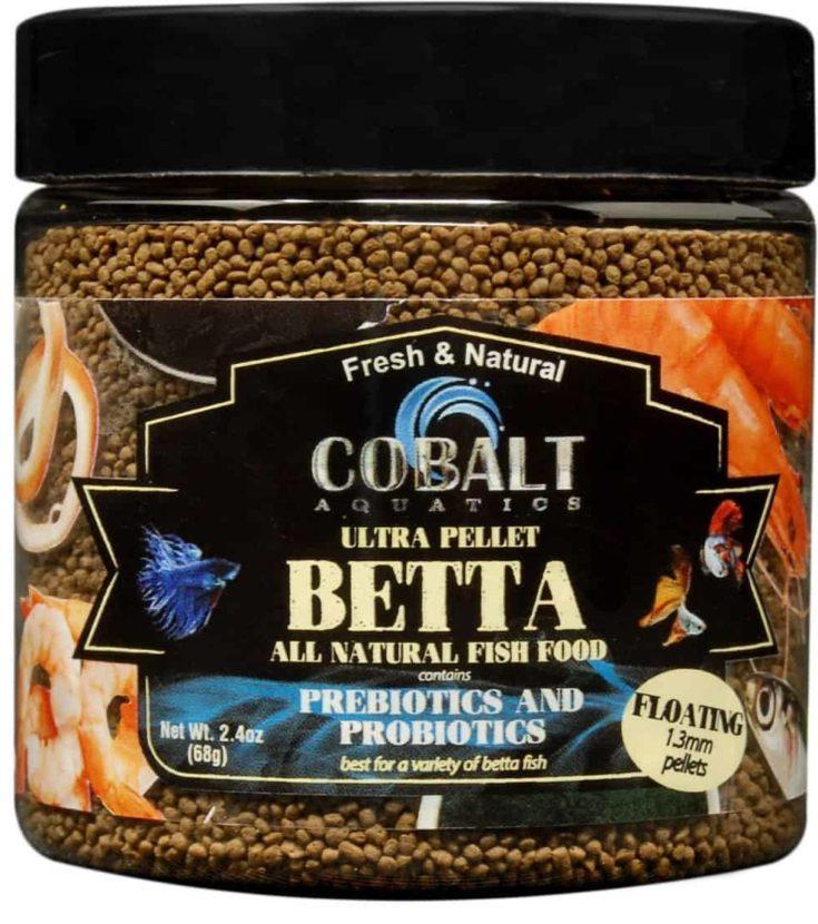 Cobalt Aquatics Ultra Betta Floating Pellet Fish Food, 2.4-oz bottle