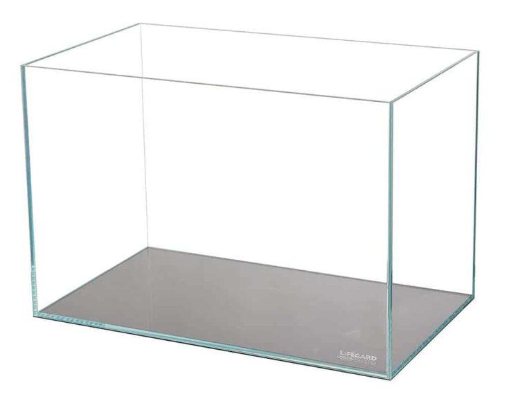 10 Gallon Lifegard Aquatics CRYSTAL Aquarium in a white background