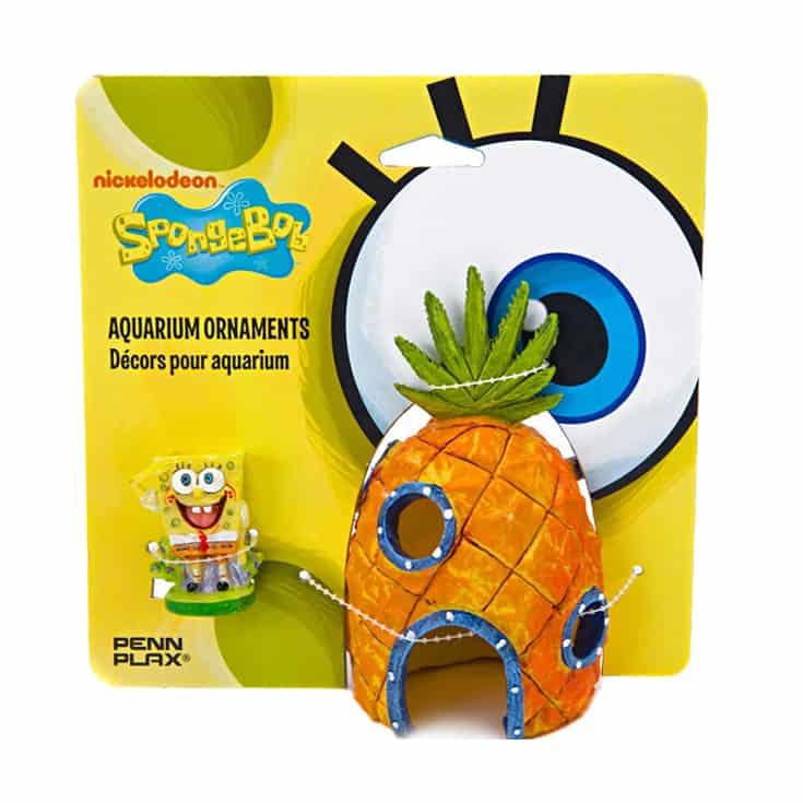 Penn-Plax SpongeBob and Pineapple House Aquarium Ornament