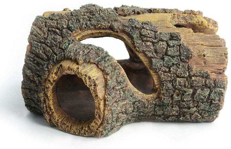 hygger Betta Log Resin Hollow Tree Trunk Ornament