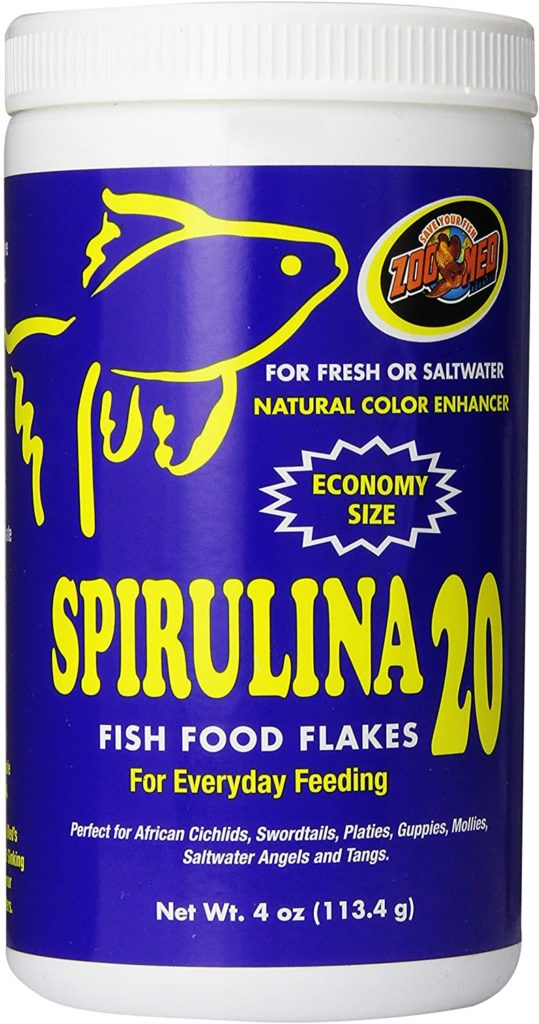 Royal Pet Supplies Inc Zoo Med Spirulina 20 Flake Fish Food
