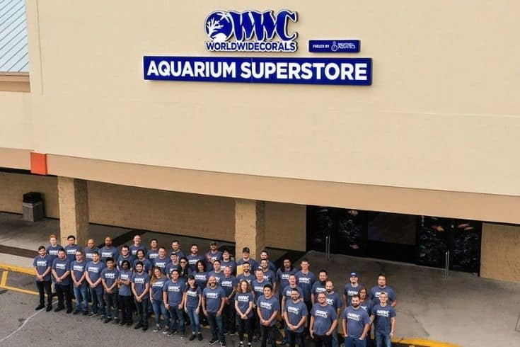 word wide corals store with staff